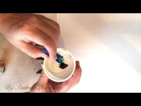 ЛАЙФХАК. Как покрасить фурнитуру для шкатулки - YouTube