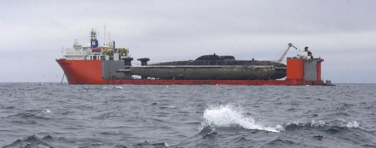 August 2014, Two Akula-class (Project 971 Щука-Б) submarines are moved from the Kamchatka peninsula (Pacific fleet base) to Severodvinsk via the Dutch heavy lift vessel Transshelf, to begin a major refit and upgrade.