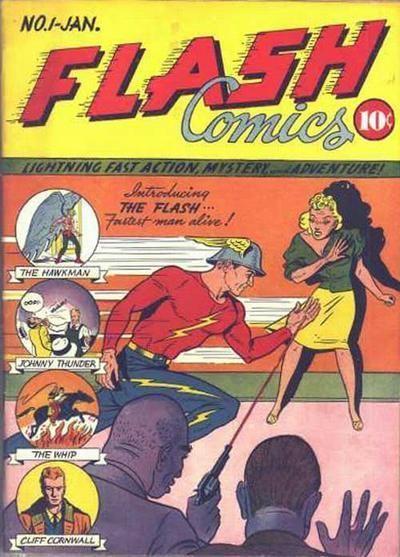 Flash #1, first app of Flash, Hawkman, Hawk Girl, Black Canary (Golden Age)
