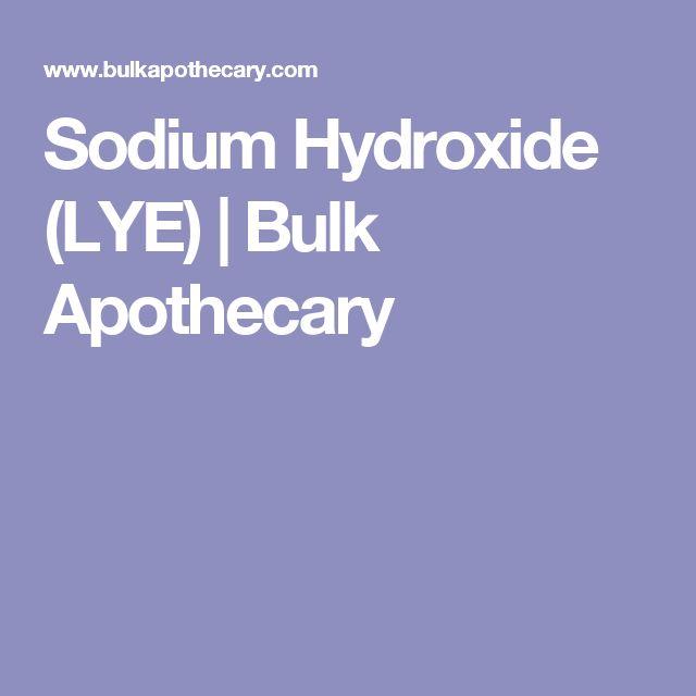 Sodium Hydroxide (LYE) | Bulk Apothecary