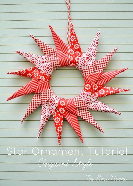 Learn how to make this ornament using Sachiko's Origami Star Ornament Tutorial!