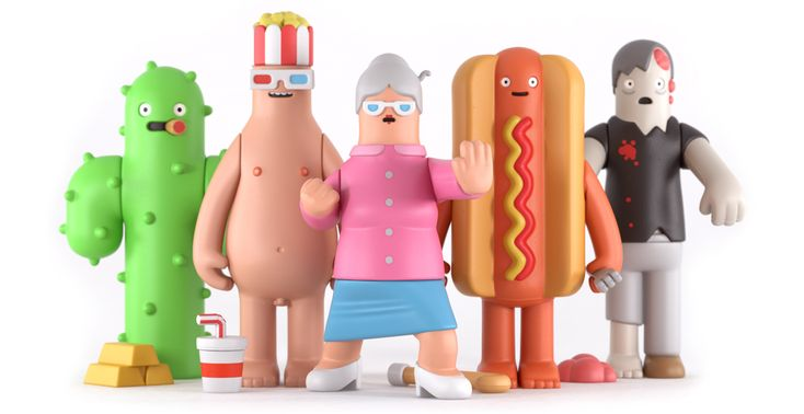 We had fun making these and we're super excited to finally show you this set of 5 collectable toys. www.yumyumlondon.com