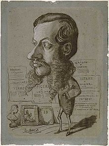 Caricatura del notario Léon Marchon, 1855/1856, Art Institute of Chicago