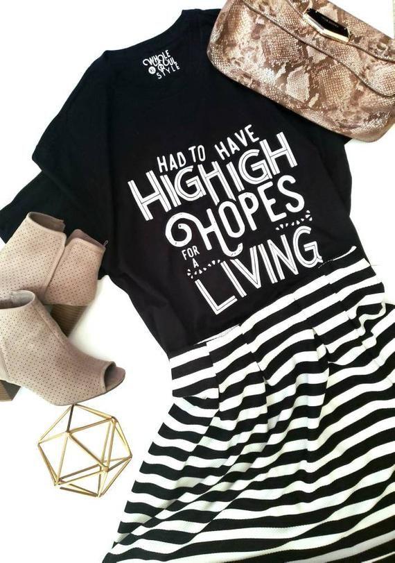 d5b88f1c High Hopes Graphic Tee | Panic at the Disco Lyrics | pop song t shirt |  song lyrics tee