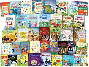 You could win £320-worth of Usborne books by entering the prize draw every month!