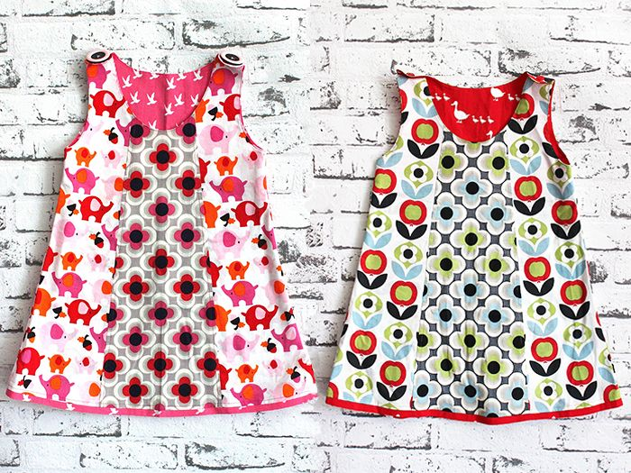 DIY Anleitung für Kinder: Kleid selber nähen // childrens fashion diy: how to sew a dress via DaWanda.com