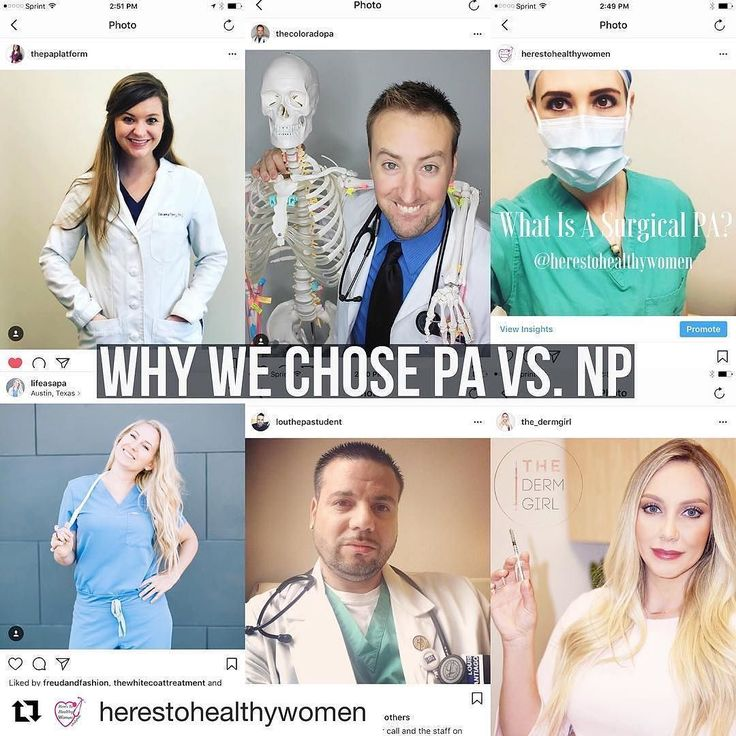 Make sure to check out this new video from  @herestohealthywomen on PA vs NP! This is something I get asked about all the time so I was happy to participate!  New YouTube video up (link in profile) with some of my favorite PAs! We're talking about why we chose PA vs. NP. And for the record we all have mad crazy respect for NPs too! Happy PA Week!!  #physicianassistant #nursepractitioner