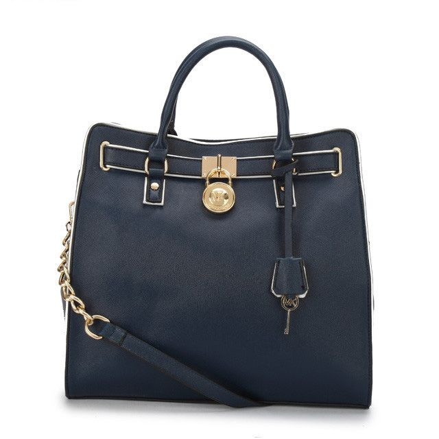 Love to give! Everything on her list and surprises beyond. Just Michael Kors Hamilton Specchio Large Navy Totes #MichaelKorsBags