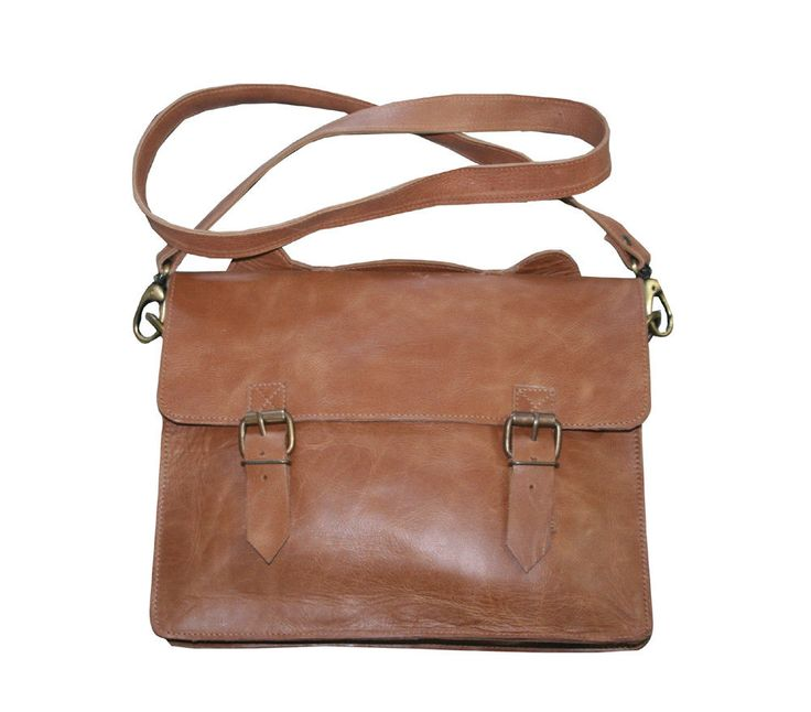 Men Messenger Shoulder Tote Bag Men Leather Small Handbag Wallet Clutch Purse #Handmade #ToteBag