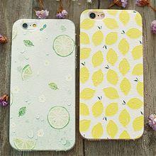 Verão Fundas 3D Alívio Série de Frutas Cor Chapeamento Tampa Do Telefone de Volta Caso TPU macio Para iPhone 5 5S SE 6 6 S Plus 100 pcs (SS0823)(China)
