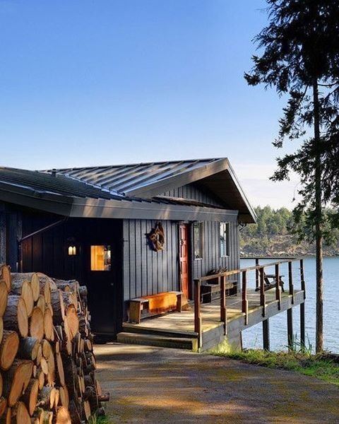 Lake Wanahoo Luxury Cabin: 17 Best Ideas About Contemporary Cabin On Pinterest