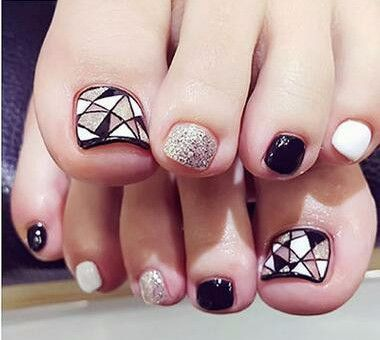 24pcs Nail Stickers Tips Patches False Nails Foot Toenail Tablets Nail Art Tools Accessories Manicure Patch Decor Nail Glue 2017   #StickersGalaxy