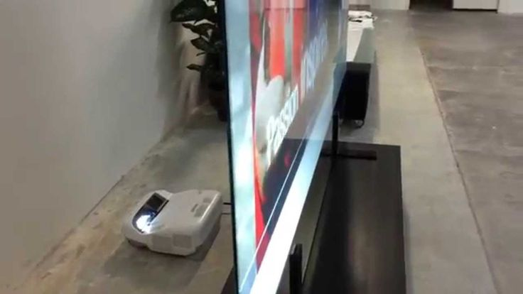 "100"" Ultrashort Rear Projection Screen"