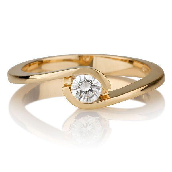 Diamant Verlobungs Ring Solitär 0.25 Karat (VS2/F) 750 Gelbgold  #diamantring #verlobung #juwelier #abt #dortmund