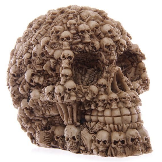 Fantasy Multiple Skulls Ornament Gothic Home by getgiftideas