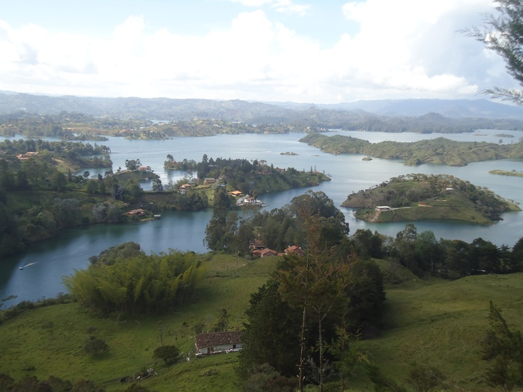 Guatapé, Antioquia, Colombia.  Breath taking.