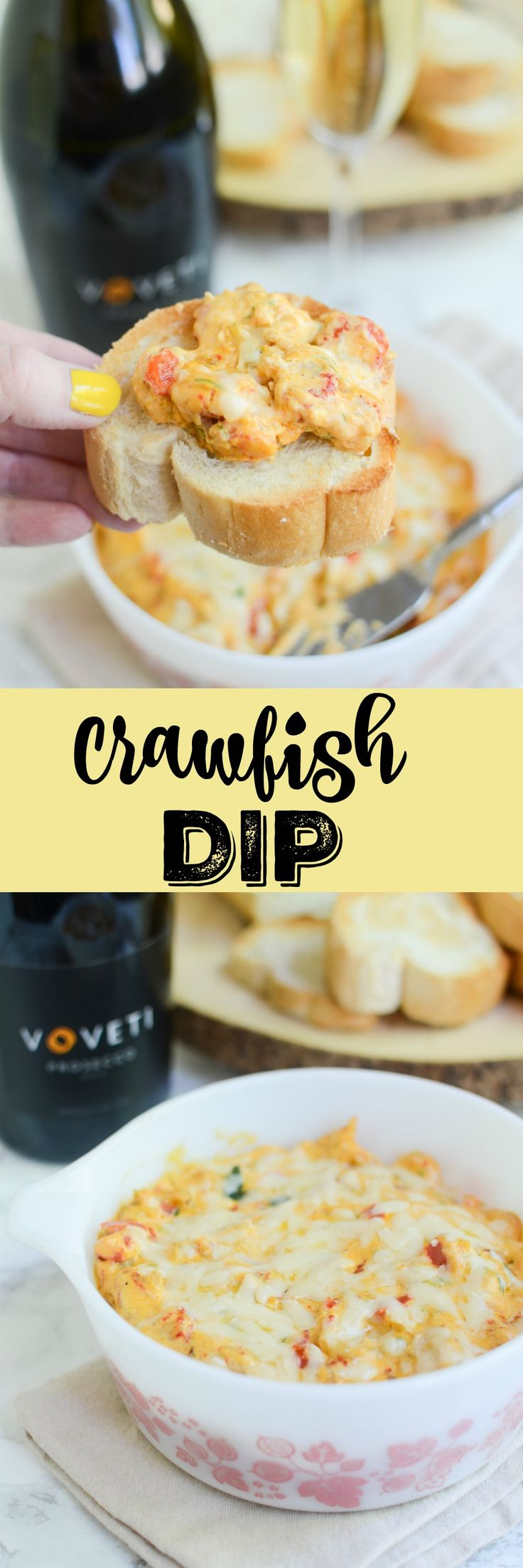 Crawfish Dip - perfect for your next party! Serve on sliced baguette or crackers.