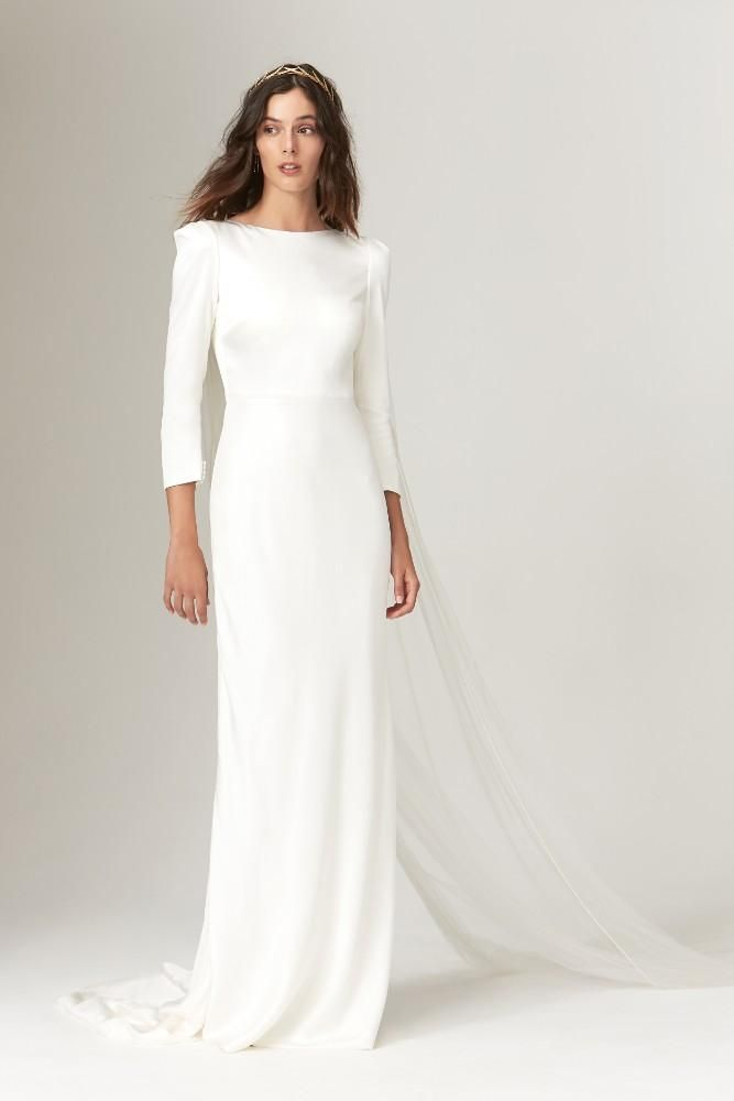 Savannah Miller Fall 2019 Collection Plain Wedding Dress