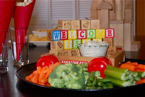 Vegetable platters for baby shower baby shower