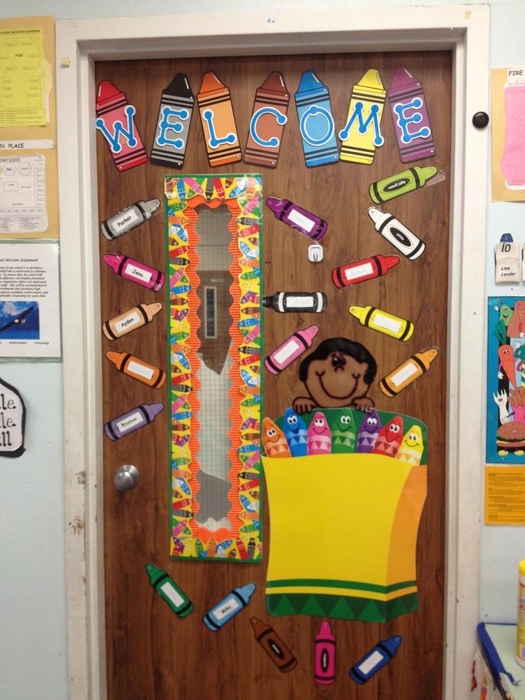 Classroom Decor By Felix ~ Crayon classroom door decor pinterest