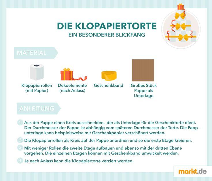 DIY Geschenktorten selber machen  markt.de Klopapiertorte #geschenk # ...