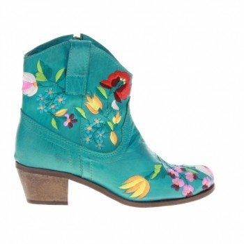 Lazamani Amani 33.346 Turkoois Leer winkel je online bij bootsshoes.nl
