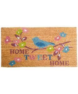 Home Tweet Home Doormat - 70x40cm - Natural.