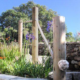 Best Garden Rope Hand Rail Outdoor Railing Pinterest 400 x 300