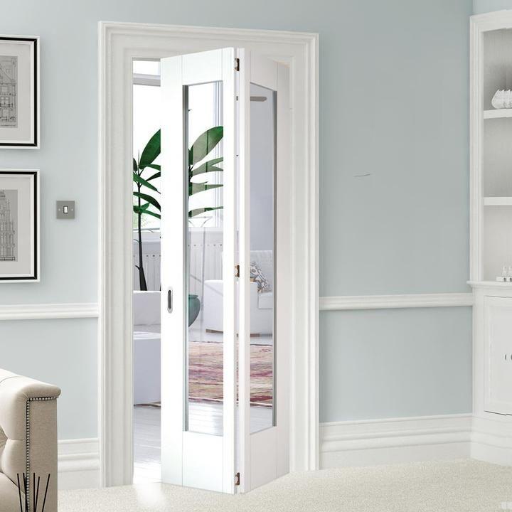 Image Shaker 1 Pane Glazed Bifold Door White Primed Glass