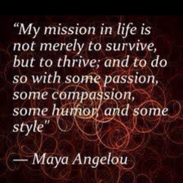 What is your mission in life?