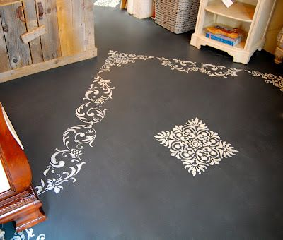 Driven By Décor: Using Annie Sloan Chalk Paint on Floors