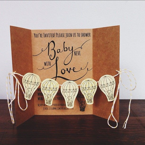 Baby Shower Invitation - Hot Air Balloon for @Nia Neve - by Chloe Ferres