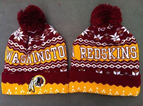 0d3e3400 Washington Redskins Winter Outdoor Sports Warm Knit Beanie Hat Pom ...