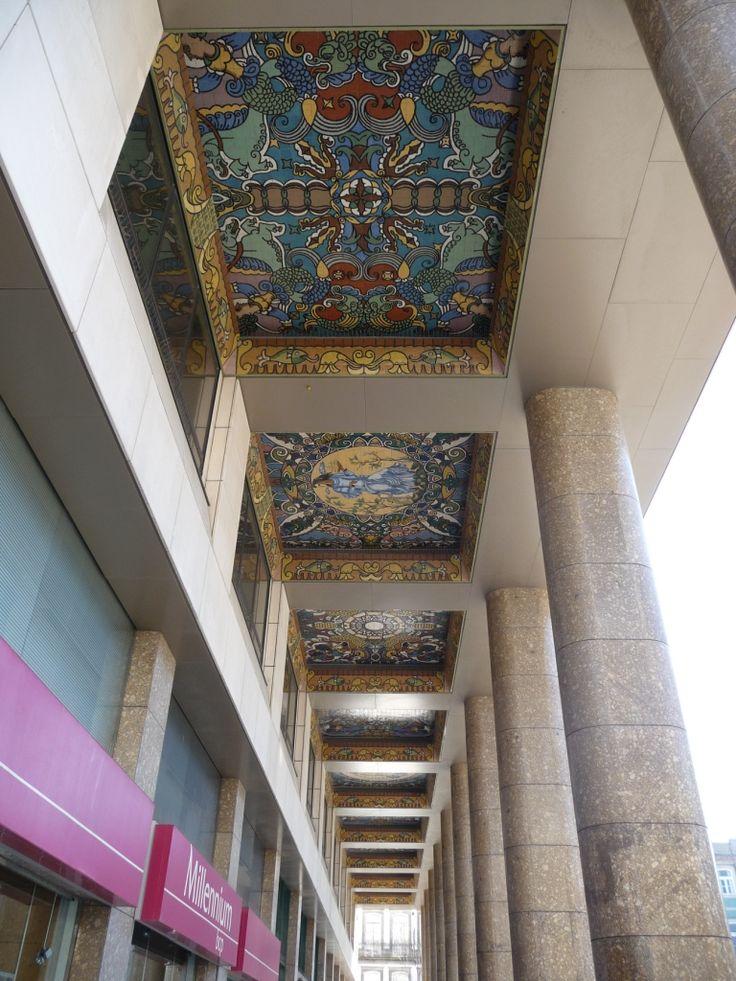 Jorge Barradas   Porto   Palácio Atlântico   1969 /// Jorge Barradas   Oporto   Atlântico Palace   1969 #Azulejo #JorgeBarradas