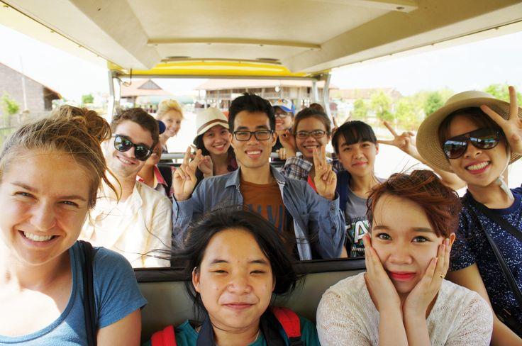 SE Vietnam Team on the electric car, prepared to go to Bai Dinh Pagoda