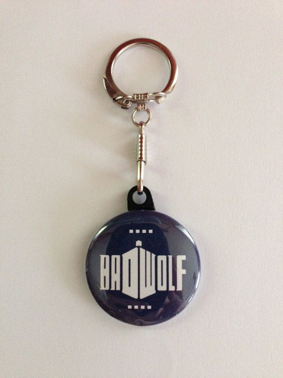 Dr Who Keychain Handmade Keychain Dr Who by MyButtonMonster