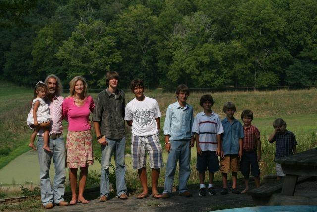 Guy's beautiful family!   Tyler, Logan, Joe (Bill Gaither nicknamed him TPAC!), Jesse, Levi, Grayson, Zach & Lacy
