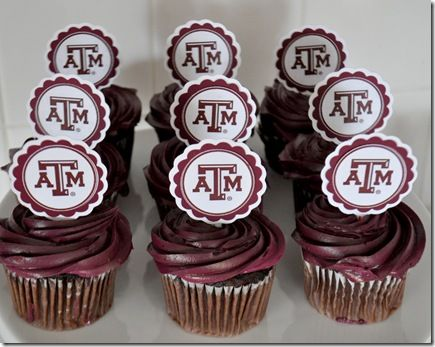 Texas A Cupcake Toppers Http Theautocrathaley Blogspot