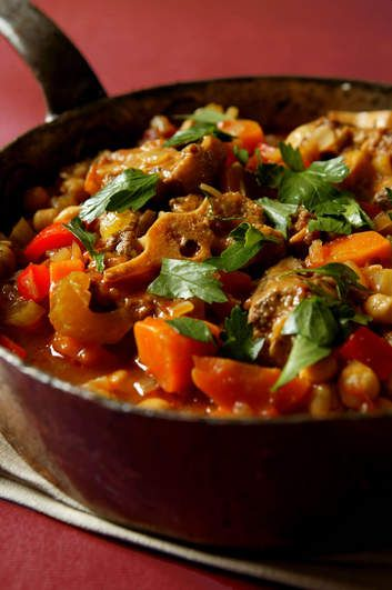 Oxtail and chickpea stew.