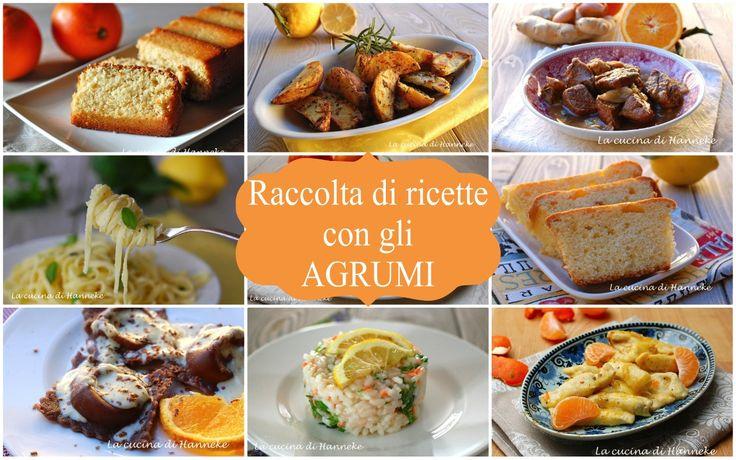 Raccolta di ricette con gli agrumi, dall'antipasto al dolce
