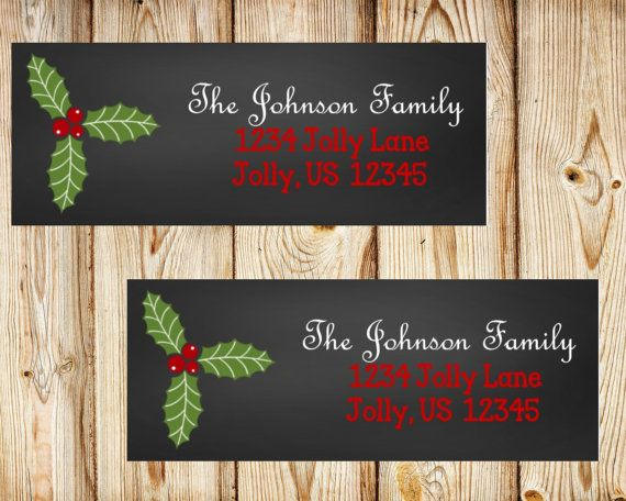 Christmas Return Address Labels Christmas by PartyOnInvites                                                                                                                                                                                 More