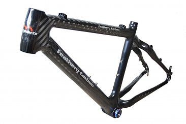 Feathery Carbon Mountainbike Rahmen 12K Carbon.