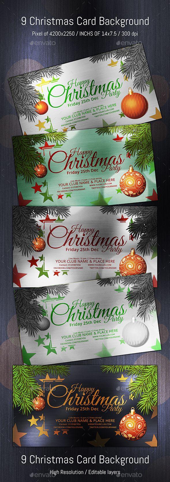 Christmas Typo Star Volume 02 Christmas Card Background Christmas Flyer Invitation Card Design