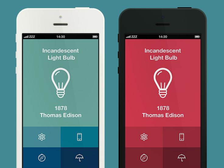 Hi!  Whilst working on the color palette I came up with the idea of one simple app showing what was invented at a particular day.  Minimalistic concept of the app corresponds with minimalistic way ...