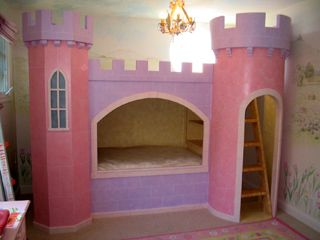 castle bed. . . purple and pink