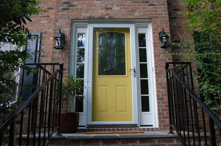 Yellow front door martha stewart cornbread design ocd for Front door yellow paint