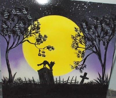 Graveyard Prowler - spray painting
