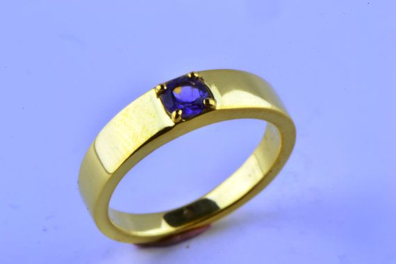 14K Gold Filled Natural Earth Mined Amethyst by LuckyGirlAtelier