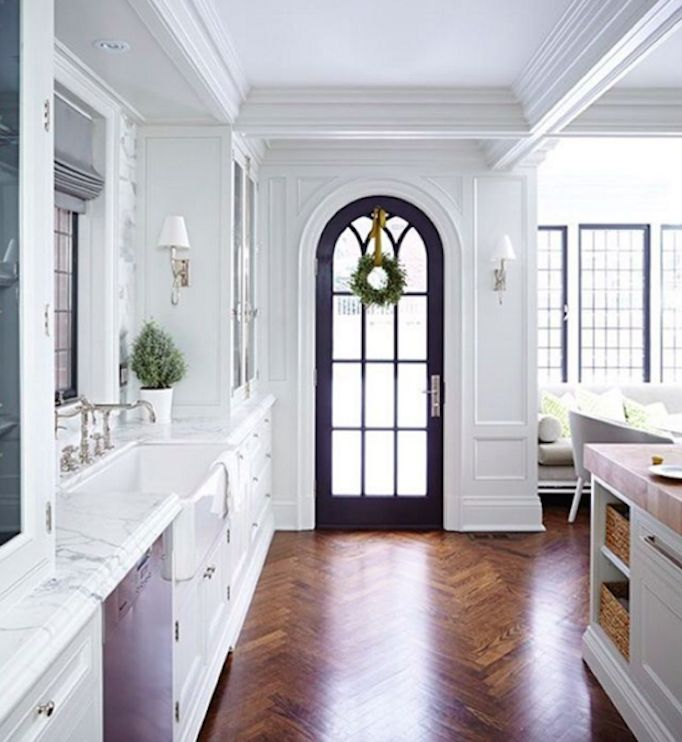Arched door instead of traditional French door