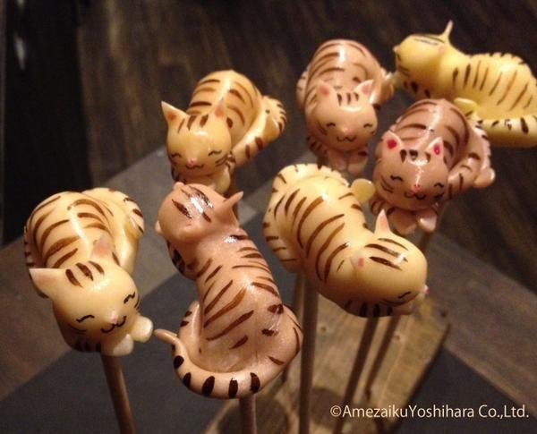 Japanese Traditional Lollipops by Amezaiku Yoshihara - Cats